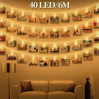 LED Fotoclips Lichterkette Für Zimmer Deko   Wellead Clip Bilder  Lichterketten Bilderrahmen Dekoration Für Wohnzimmer Innen