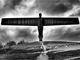 Angel Of The North Black And White Art Print Poster Wall Decor