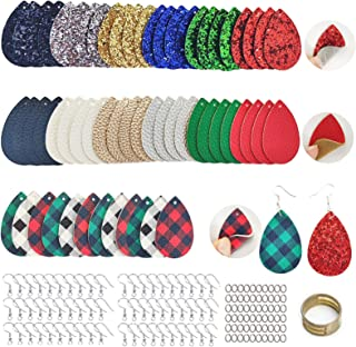 AOUXSEEM 181 Pcs Faux Leather Earrings Making Kit for Beginner, Contains Pre-Cut Double Sides Buffalo Printed and Metallic...