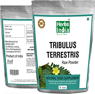 Tribulus Terrestris Powder 16 Oz. No Fillers All Natural Powder - Herbs India