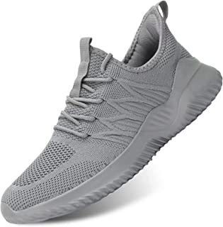 Mens Running Shoes Slip-on Walking Sneakers Lightweight Breathable Casual Soft Sole Trainers