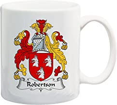 Robertson Coat of Arms/Robertson Family Crest 11 Oz Ceramic Coffee/Cocoa Mug by Carpe Diem Designs, Made in the U.S.A.