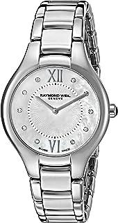 Raymond Weil - Noemia de la mujer 32 mm correa de acero y carcasa cuarzo Mop Dial analógico reloj 5132-ST-00985