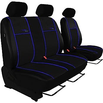 Pok Ter Bus Autositzbezug Super Qualität Für Bus Und Transporter Fahrersitz 2er Beifahrersitzbank Design Kunst Line Hier Mit Blauer Lamelle Auto