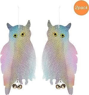 Besmon Owl Bird Items to Keep Birds Away from Patio, 2 Pack Garden Owls to Scare Birds