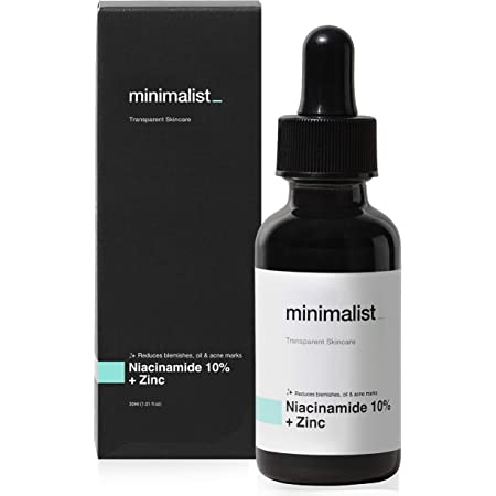Minimalist 10% Niacinamide Face Serum for Acne Marks, Blemishes & Oil Balancing with Zinc | Skin Clarifying Anti Acne Serum for Oily & Acne Prone Skin | 30ml