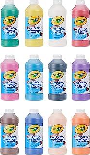 Crayola Washable Paint, Assorted, 16 oz., 12 per Set (549718), Pint