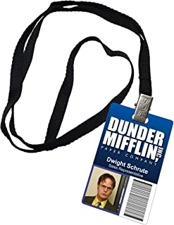 dunder mifflin name tag