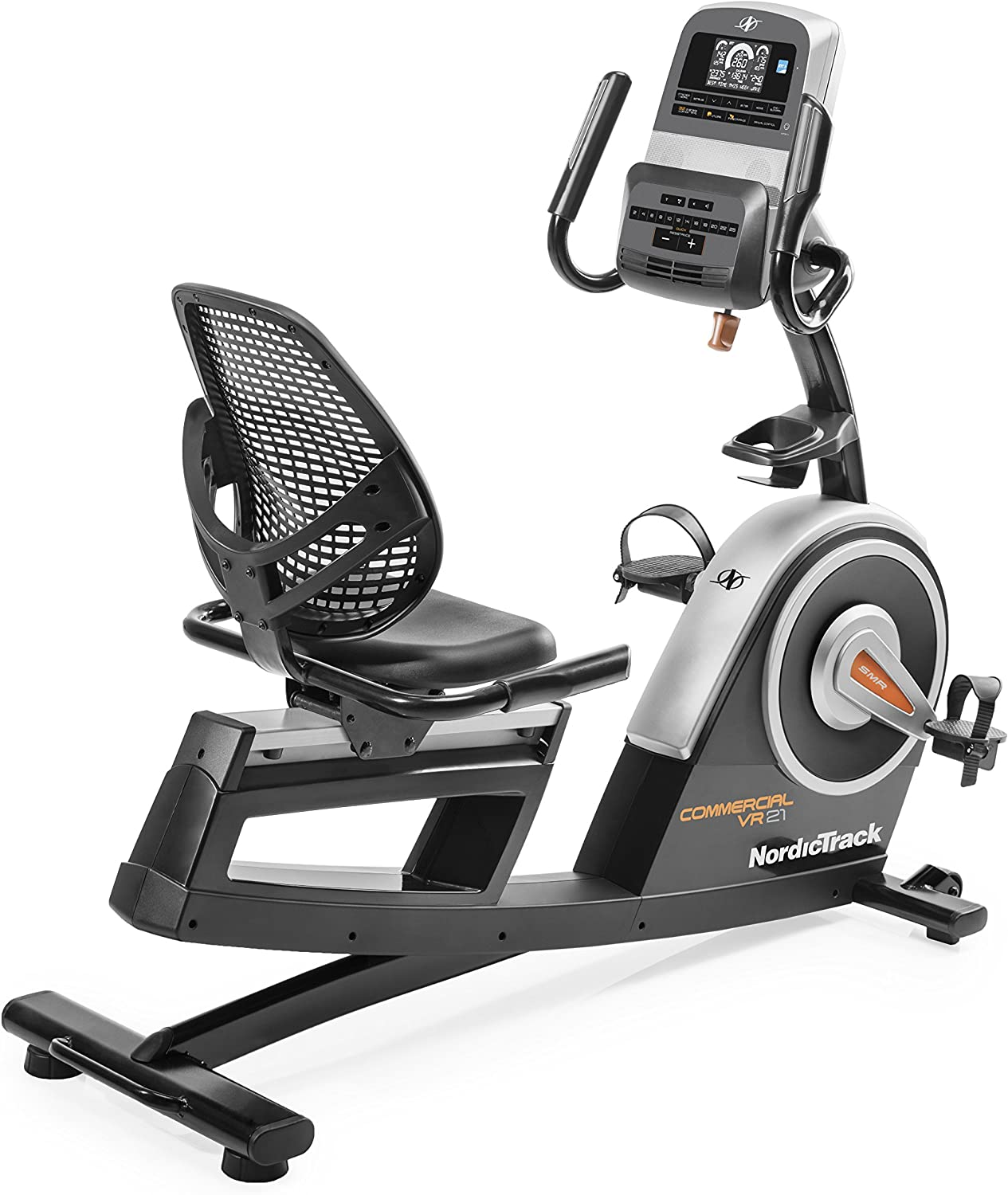 NordicTrack Commercial VR21 Smart Recumbent Exercise Bike with 25 Digital Resistance Levels, Compatible with iFIT Personal Training