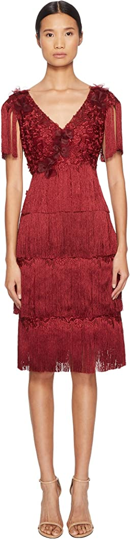 Marchesa Notte - 3/4 Tiered Fringe Cocktail