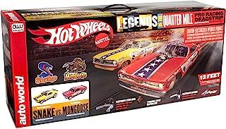 Auto World Hot Wheels Slot Car Racing Set - Snake v. Mongoose - 13 Foot Slot Race Track