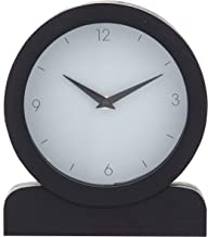 Amalfi Presley Mantel Clock Presley Wood Mantel Clock, Black/Grey