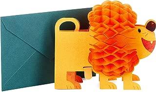 Hallmark Pop Up Birthday Card (3D Honeycomb Lion)
