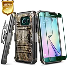NageBee Galaxy S6 Edge Plus Case w/[Full Coverage Screen Protector Premium HD], Belt Clip Holster Heavy Duty Armor Shockproof Kickstand Rugged Combo Case for Samsung Galaxy S6 Edge Plus -Camo