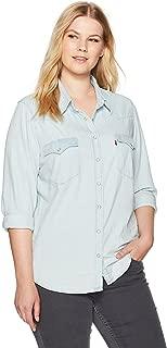 madewell denim crop shirt