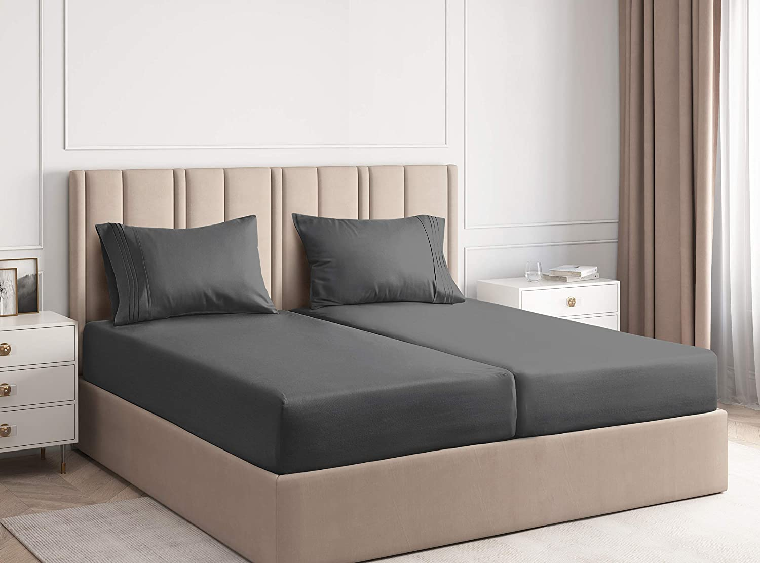 Split King Sheets for Beds Adjustable Be Super beauty product restock Wholesale quality top -