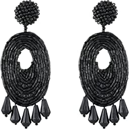 Kenneth Jay Lane - Oval w/ Drops Round Top Earrings