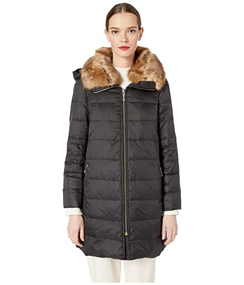 Kate Spade New York Faux Fur Puffer Jacket