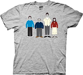 Ripple Junction Mens Seinfeld Classic Lineup T-Shirt - Seinfeld Mens Fashion Shirt - Jerry, Kramer, Geroge and Elaine Tee