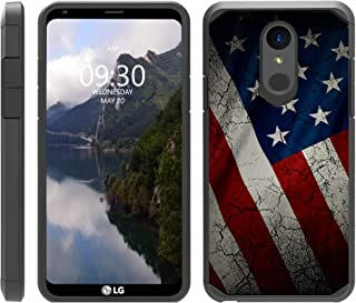 TurtleArmor | Compatible with LG Stylo 4 Case | Q Stylus Case | Stylo 4 Plus Case | Slim Fitted Dual Layer Hard Armor Hybrid Shell Case - American Flag