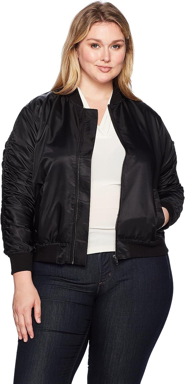 Rachel Roy Womens Plus Size Nylon Bomber Jacket Jacket