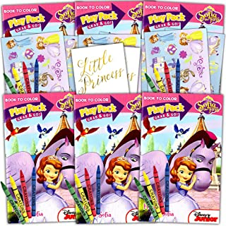 Disney Sofia the First Ultimate Party Favors Packs -- 6 Sets with Stickers, Coloring Books and More (Party Supplies)