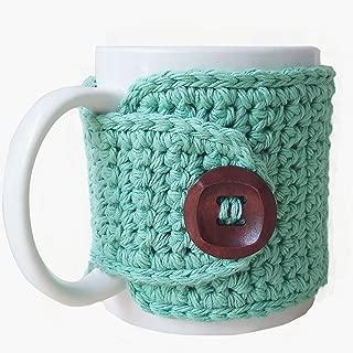 Coffee Mug Cozy Sleeve Cotton Seabreeze