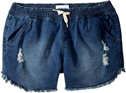 "2 1/2"" Pull-On Shorts - French Terry in Depth Charge (Big Kids)"