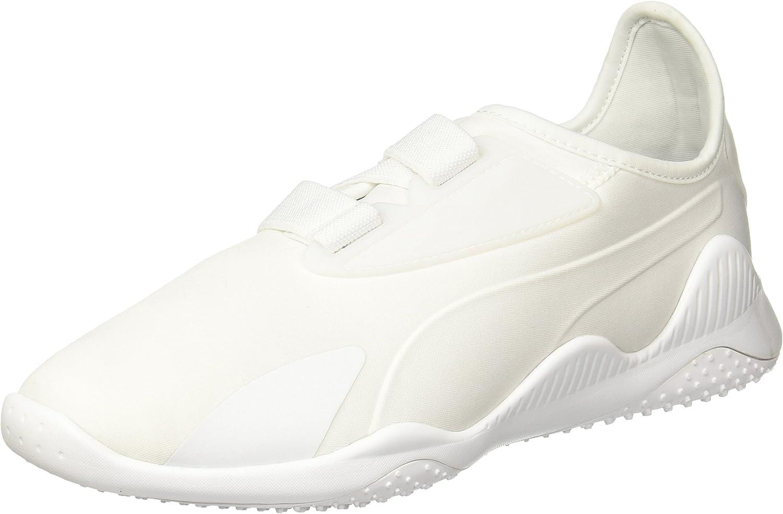 Puma Women's Evolution Mostro White Trainers- Size 4