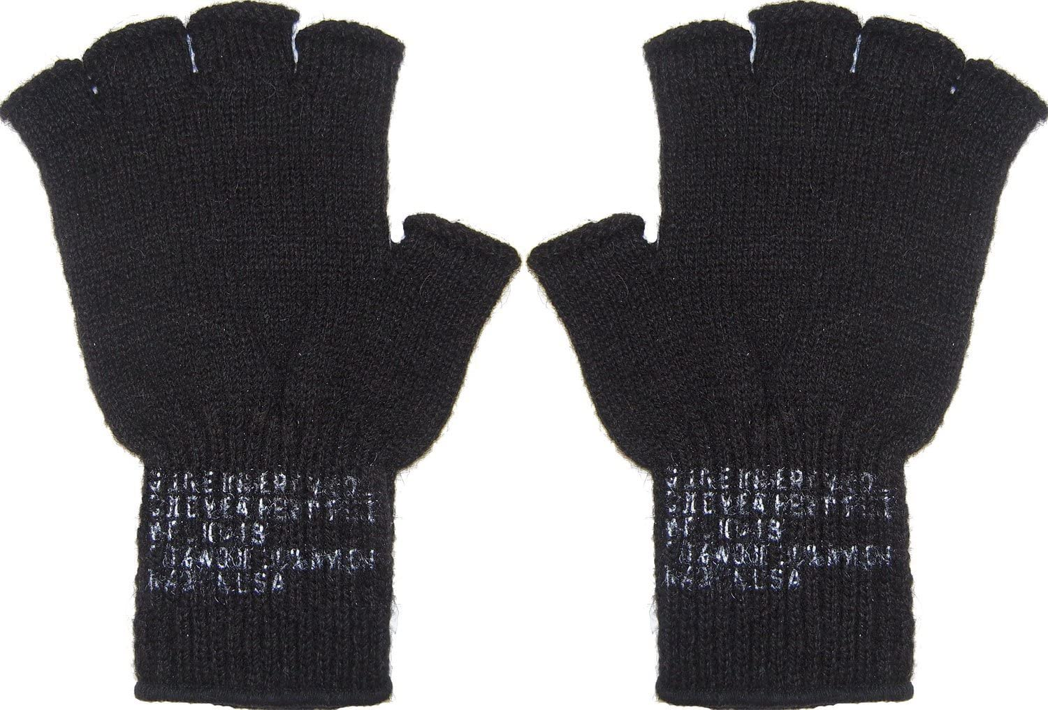 Army Universe Fingerless Wool Gloves Genuine GI Military Cold Weather Type II Inserts Tactical Liners - USA Made