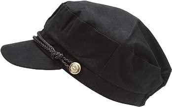 MIRMARU Women's 100% Cotton Greek Fisherman's Sailor Fiddler Hat Cap