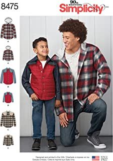 Simplicity Creative Patterns US8475A Sewing Pattern Men & Boys