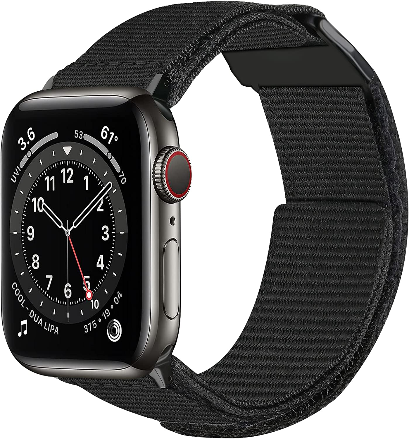 baozai Nylon Band Compatible with Apple Watch 45mm 44mm 42mm, Upgraded Soft Breathable Woven Sport Loop Wristband for iWatch Series 7/6/5/4/3/2/1/SE