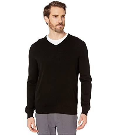 J.Crew Everyday Cashmere V-Neck Sweater (Black) Men