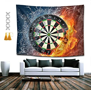 NiYoung Boutique Tapestry Dart Board Target Ice Fire Home Decor Wall Hanging, Hippie Bohemian Tapestry for Bedroom Living Room Dorm 60 x 80 Inches