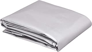 AmazonCommercial Multi Purpose Waterproof Poly Tarp Cover, 10 X 10 FT, 16MIL Thick, Silver/Black, 3-Pack