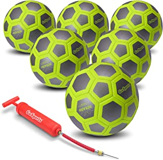 GoSports ELITE Futsal Balls - Great for Indoor or Outdoor Futsal Games or Practice – Choose Single or Six Pack - Includes Pump
