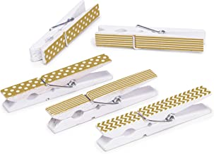 "Darice Decorative Gold Printed Clothespins: 2.75"", 12Piece"