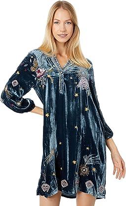 Selah Velvet Puff Sleeve Raglan Dress