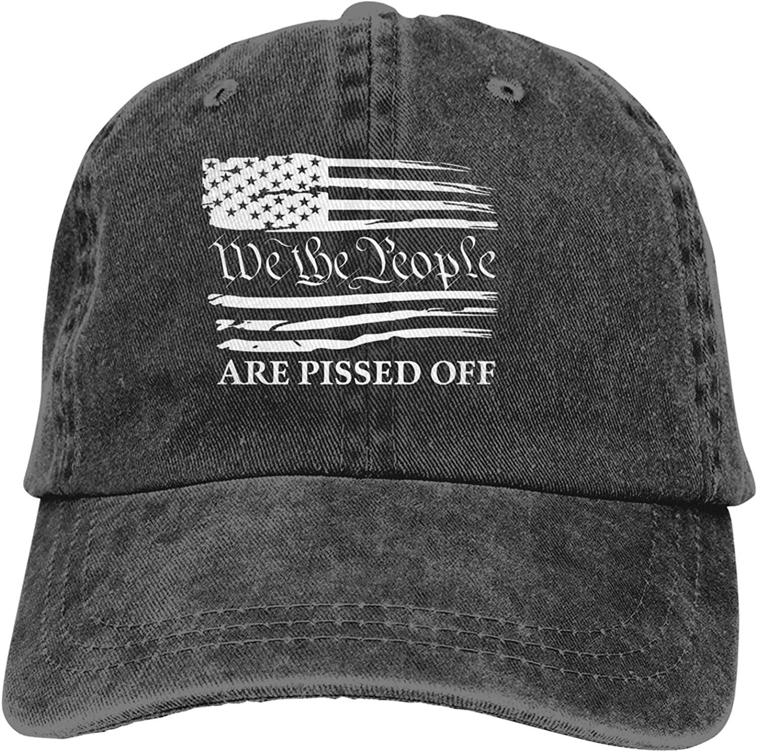 We The People are Pissed Off Cowboy Baseball Cap Men and Women Printing Adjustable Cowboy Retro Sun Anti-Ultraviolet Dad Trucker Hat