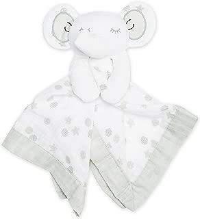 lulujo Baby Muslin Lovies Toy, Grey Elephant