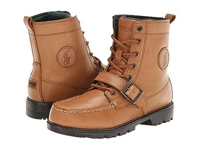 Polo Ralph Lauren Kids Ranger Hi II (Big Kid) (Tan Burnished Leather) Boys Shoes