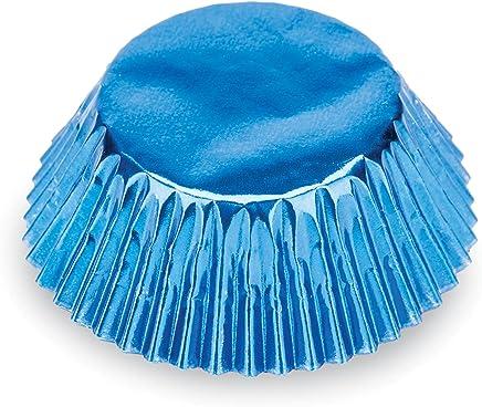 Fox Run 7204 Blue Foil Bake Cups, Standard, 32 Cups
