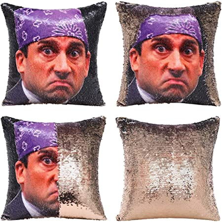 NO Insert Prison Mike Black//Champagne Ocosy Reversible 2 Colors Mermaid Pillow Case Sequins Pillow Cases Sofa Couch Cushion Cover Throw Pillow Case