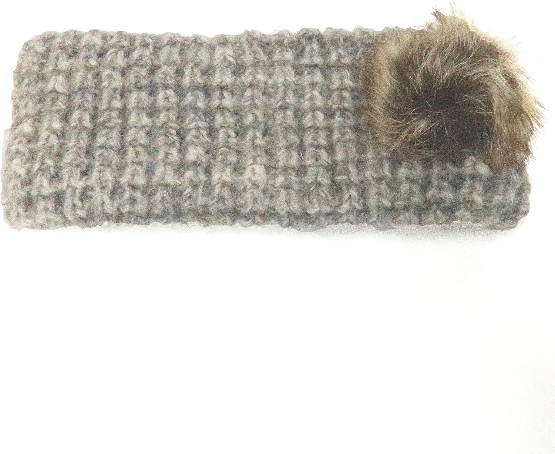 KBB Women Fashion Winter Warm Pom Pom Cable Knit Headband