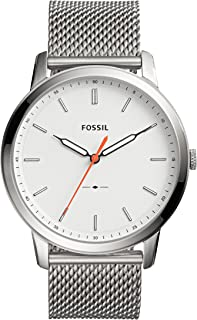 Fossil Men's 'Minimalist' Quartz Stainless Steel Casual Watch, Color:Silver-Toned (Model: FS5359)