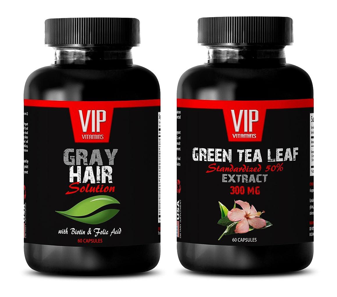 fat burner lean muscle - GRAY HAIR SOLUTION - GREEN TEA - match green tea natural powder - (2 Bottles Combo)