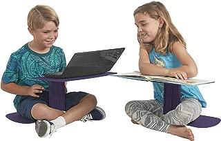 ECR4Kids The Surf Portable Lap Desk/Laptop Stand/Writing Table, Eggplant