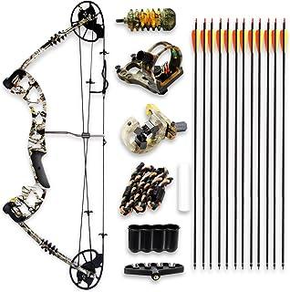 SereneLife 全套复合弓和箭配件套件,可调节抽绳重量 30-70 磅,*大速度 320 fps - 右手 (SLCOMB15ST)