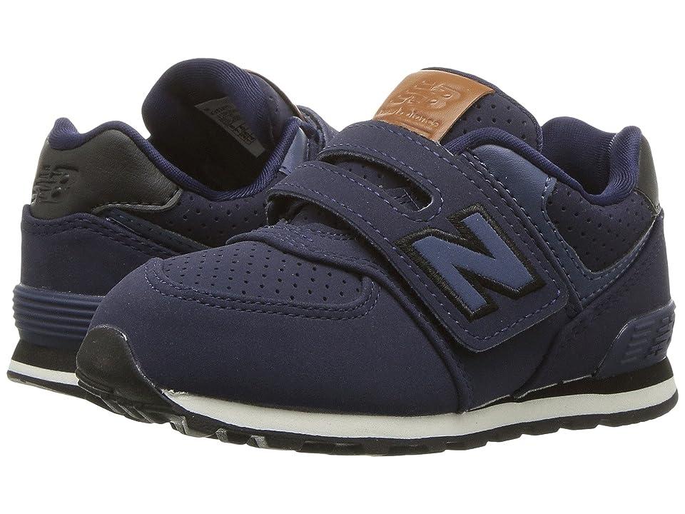 New Balance Kids KV574v1 (Infant/Toddler) (Blue/Black) Boys Shoes